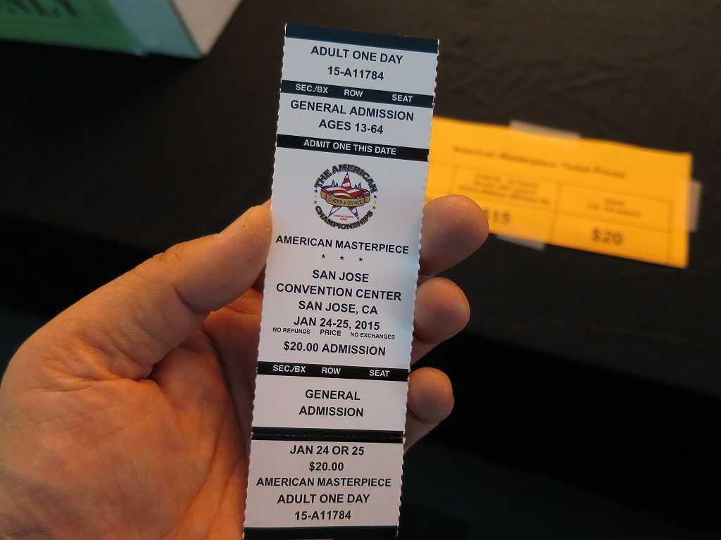 THE AMERICAN MASTERPIECE(アメリカン・マスターピース)の入場券