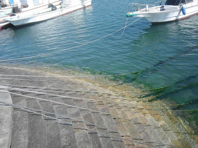 鞆の港の雁木/がんぎ(階段状の船着き場)