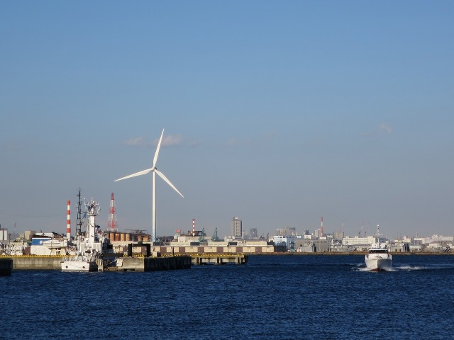 横浜港の風力発電