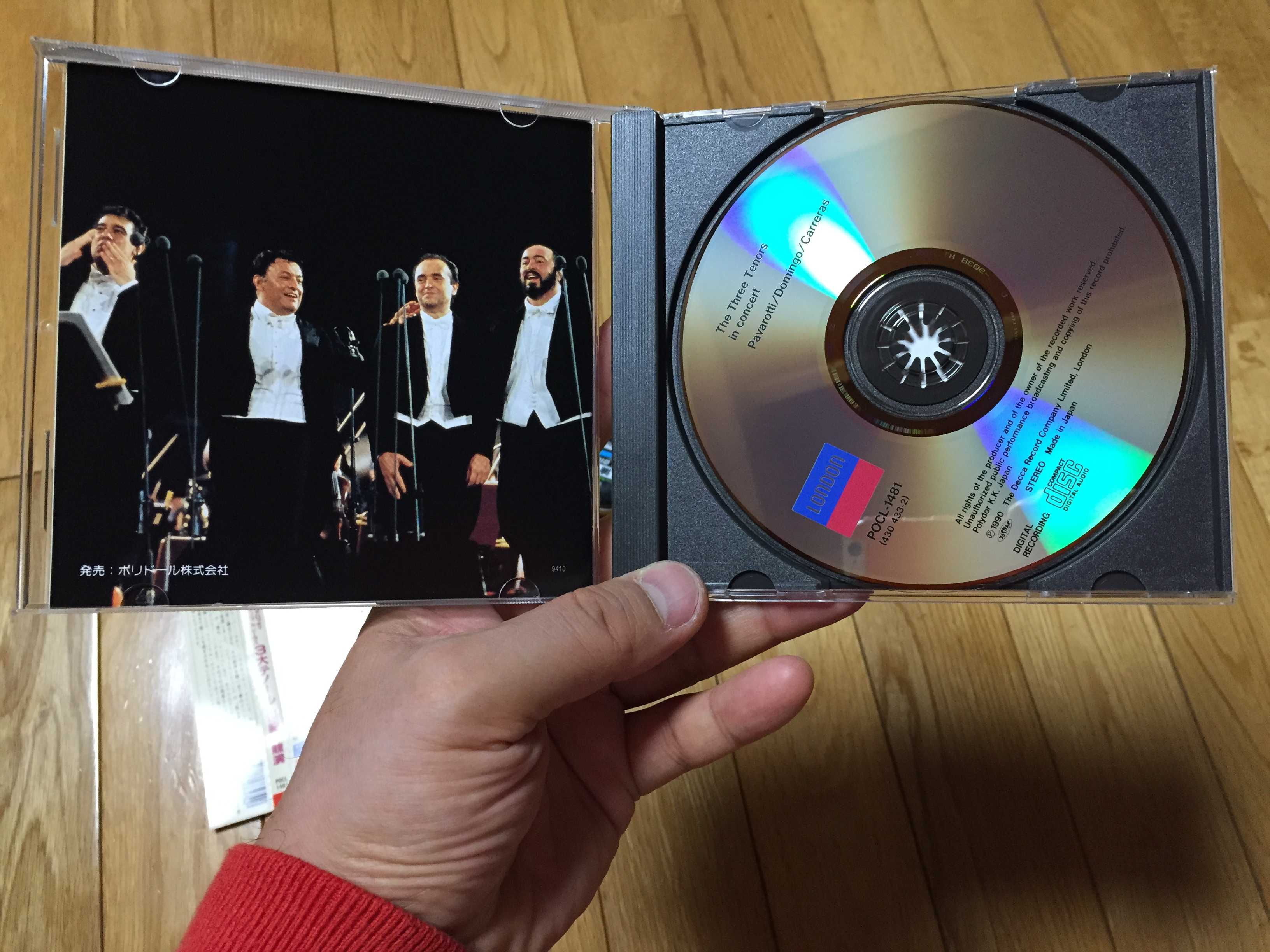 CD: The Three Tenors in concert