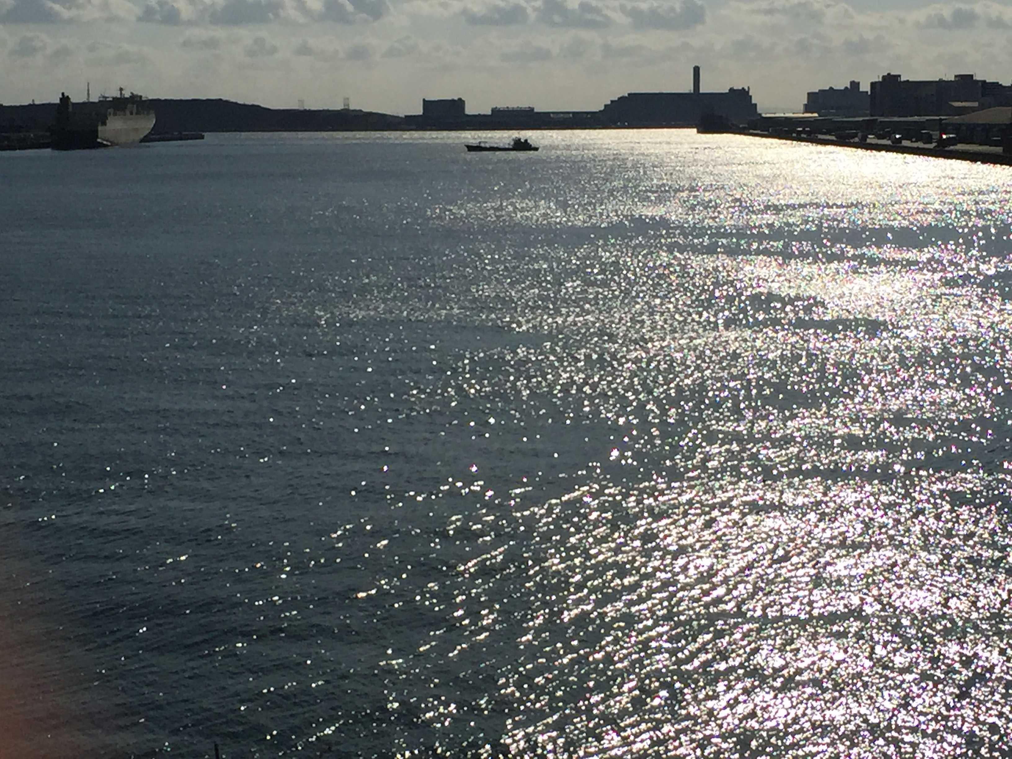 光り輝く東京港