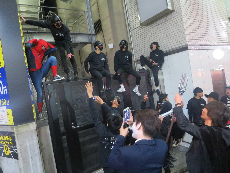 渋谷ハロウィーン - スパイダーマン