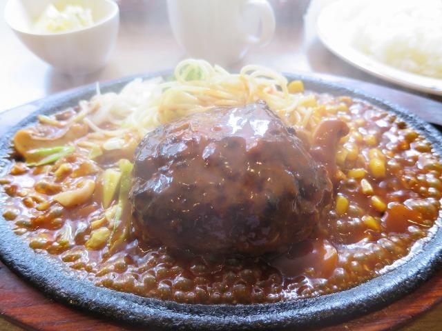 箱根湯本で食べたハンバーグ定食