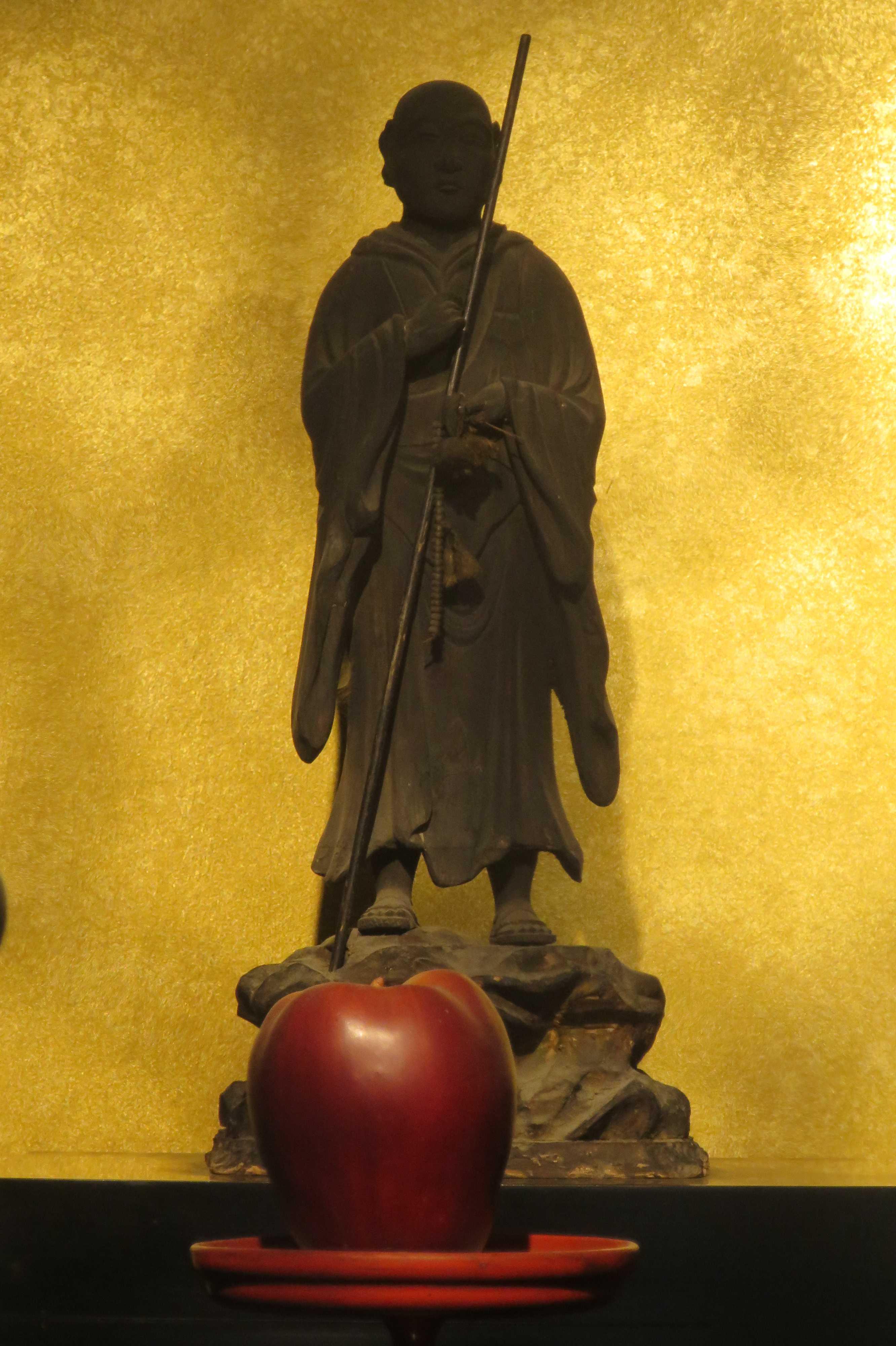 京都・六角堂 - 親鸞上人 草鞋の御影像