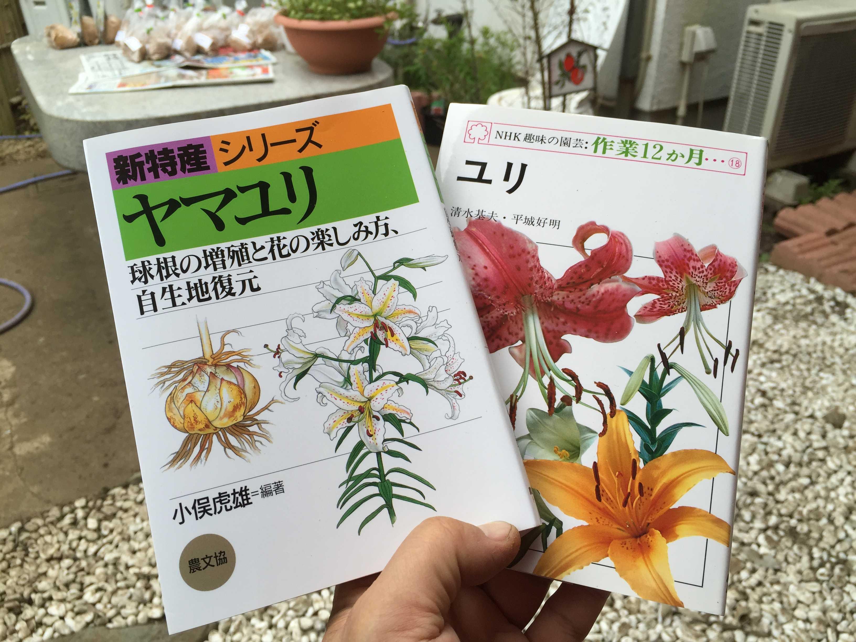 ヤマユリの鱗片挿しの本 - 小俣虎雄さん「ヤマユリ」、清水基夫と平城好明の「ユリ」