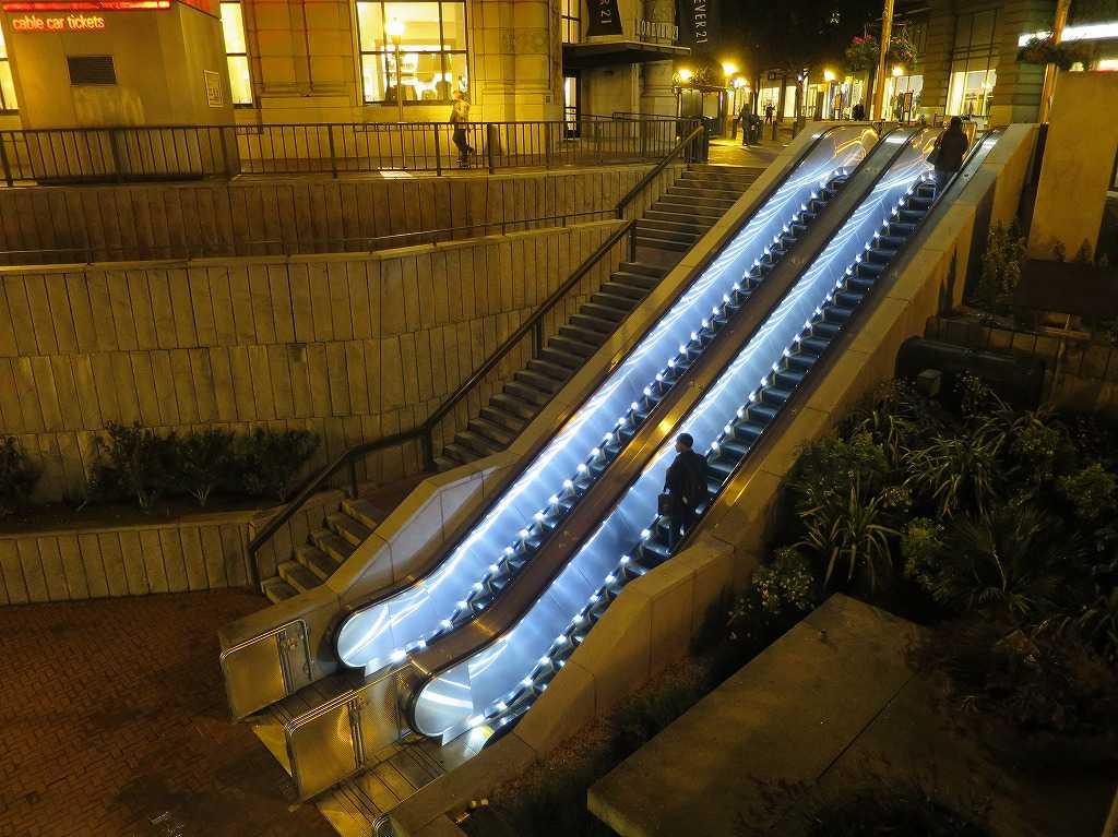 サンフランシスコ - BART/バートのパウエル・ストリート駅