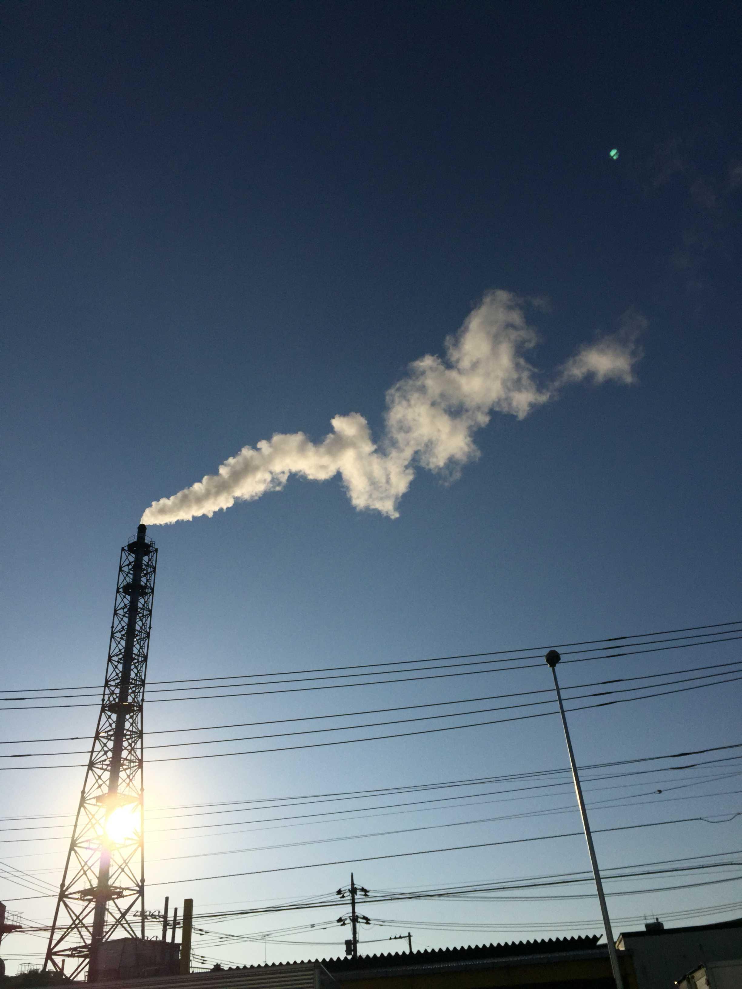 三友プラントサービス 第一工場の煙突(相模原市)