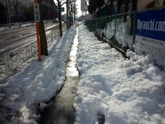 雪解けのムラウチドットコム本社前