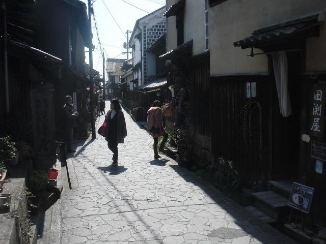鞆・太田家住宅の前の通り