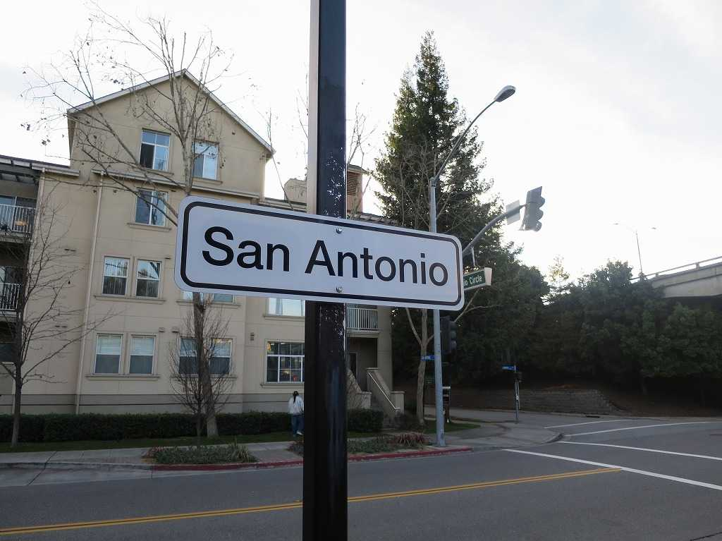 サン・アントニオ駅の標識