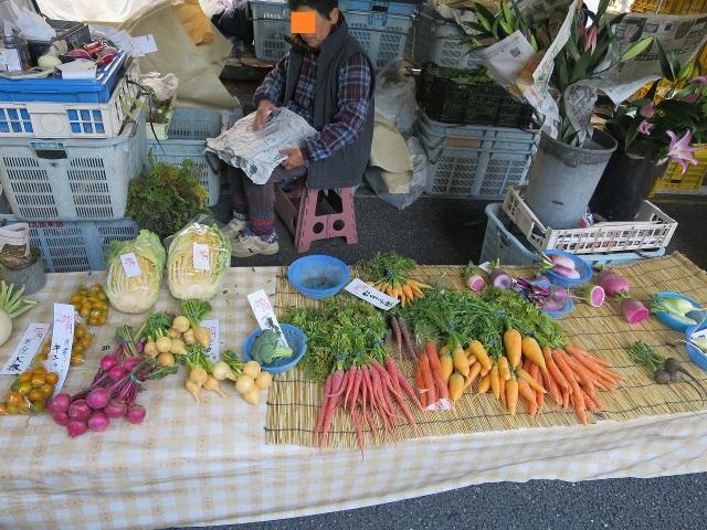 高知・日曜市の野菜