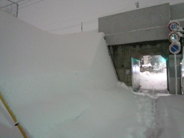 大雪と線路