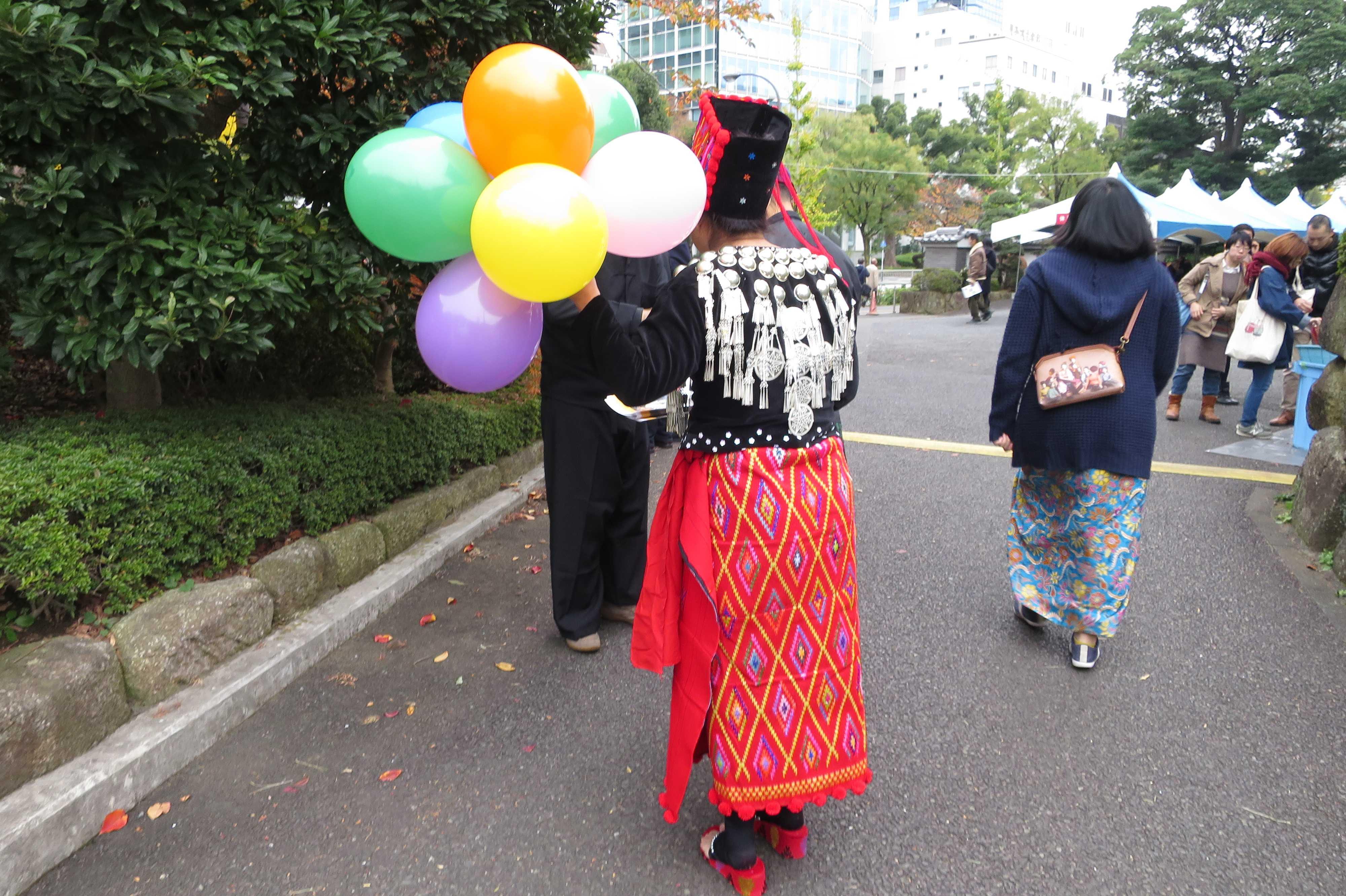 ミャンマーの民族衣装(少数民族の衣装?) - ミャンマー祭り2016