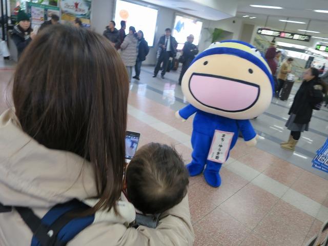 高知県のおもてなしキャラクター「まち・ゆうき君」高知龍馬空港