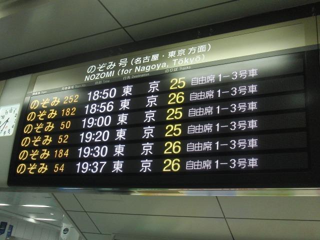 東京・大阪間の新幹線