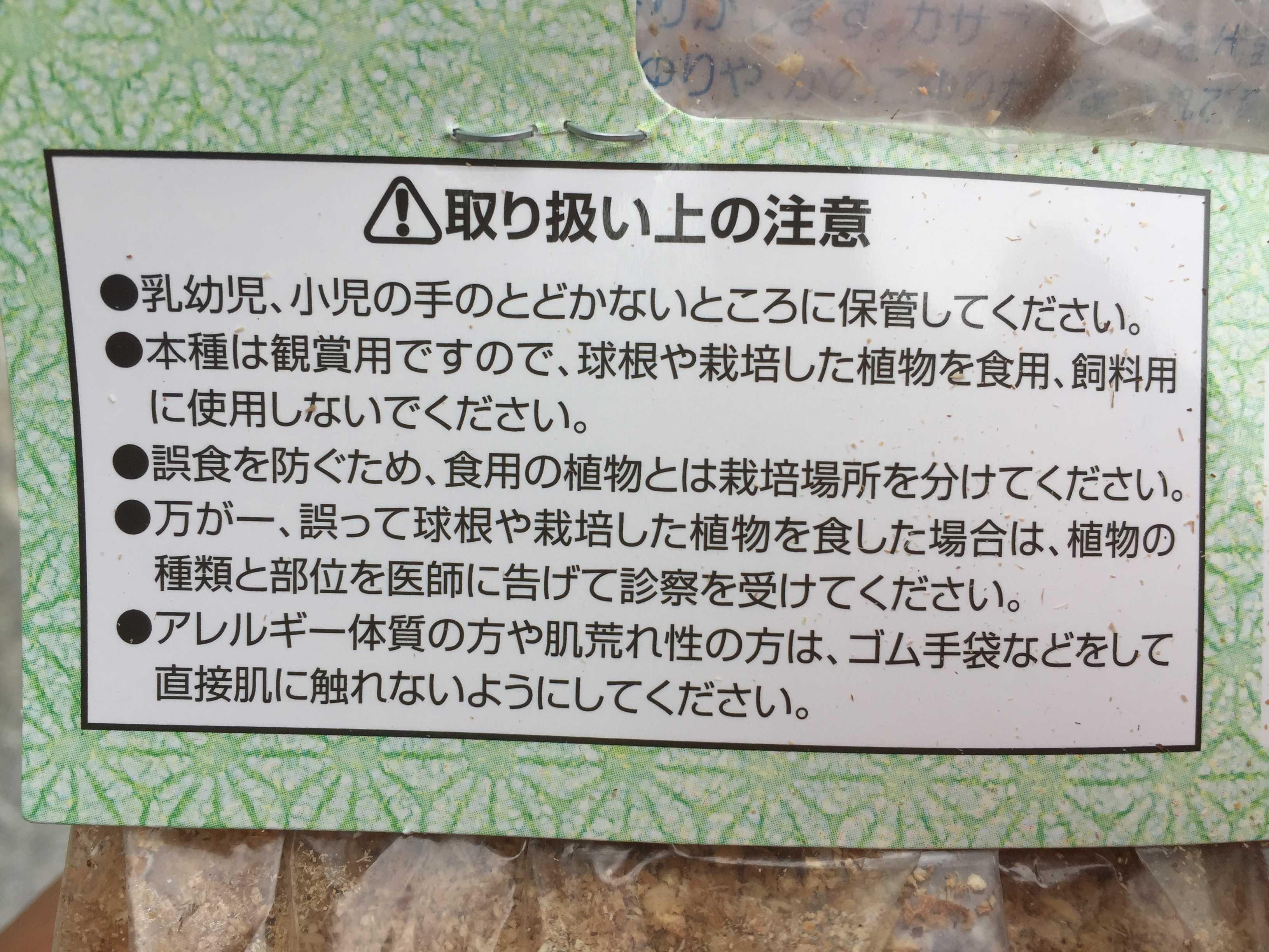 ヤマユリの鱗片挿し - (サカタのタネの)鱗片の取り扱い上の注意