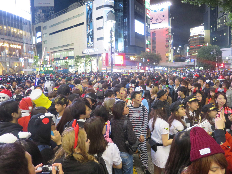 渋谷ハロウィン - 渋谷スクランブル交差点