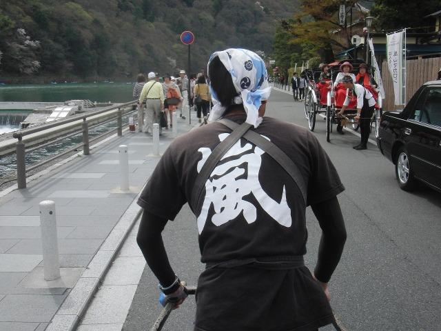 京都・嵐山の人力車