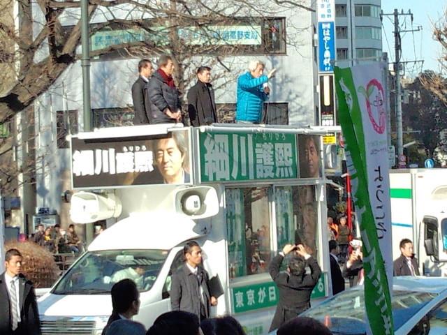 小泉純一郎元総理の街頭演説