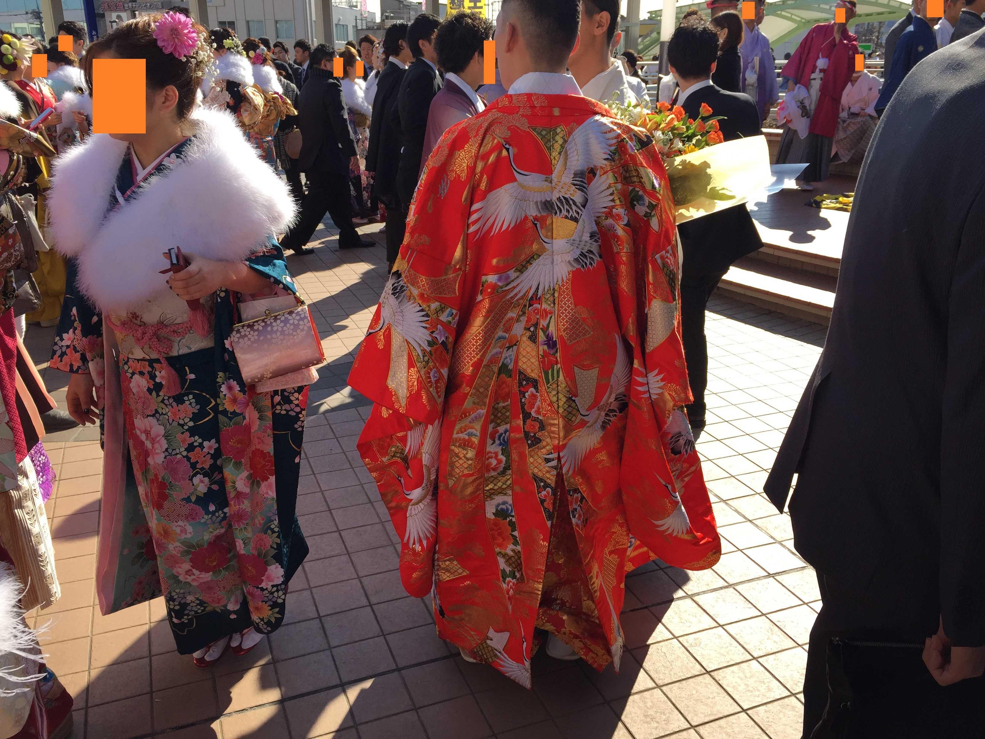 八王子市成人式 - 紋付き袴(羽織)