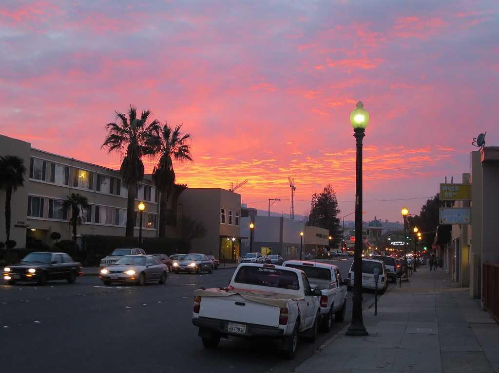 カリフォルニア・サンマテオの夕陽