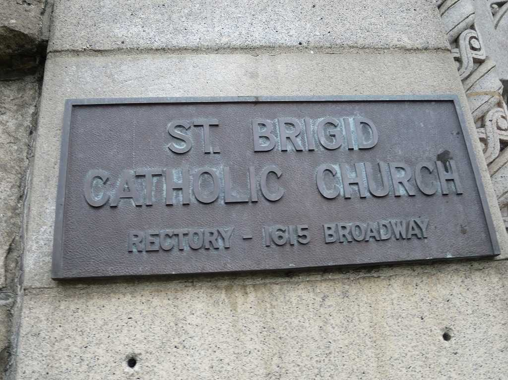 ST. BRIGID CATHOLIC CHURCH RECTORY - 1615 BROADWAY