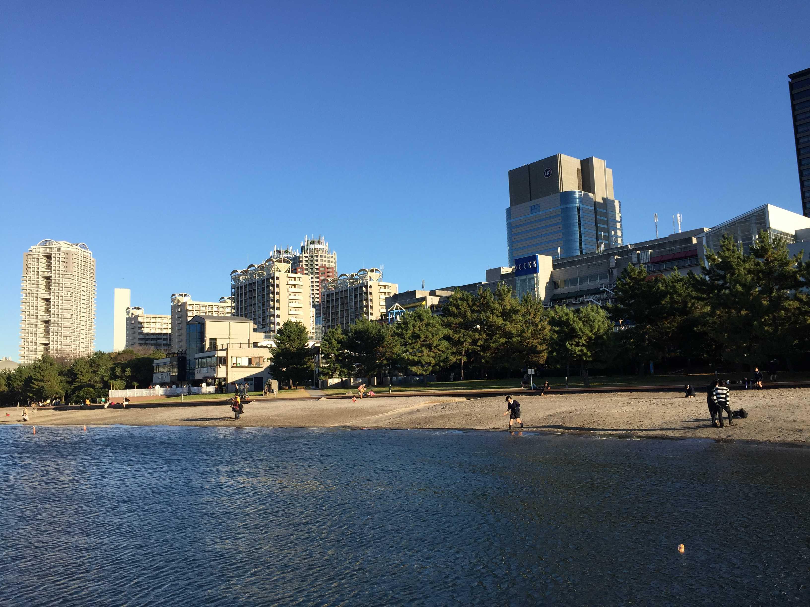 砂浜 - お台場海浜公園