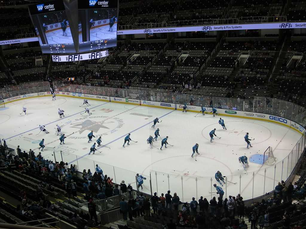 NHL サンノゼ・シャークス戦