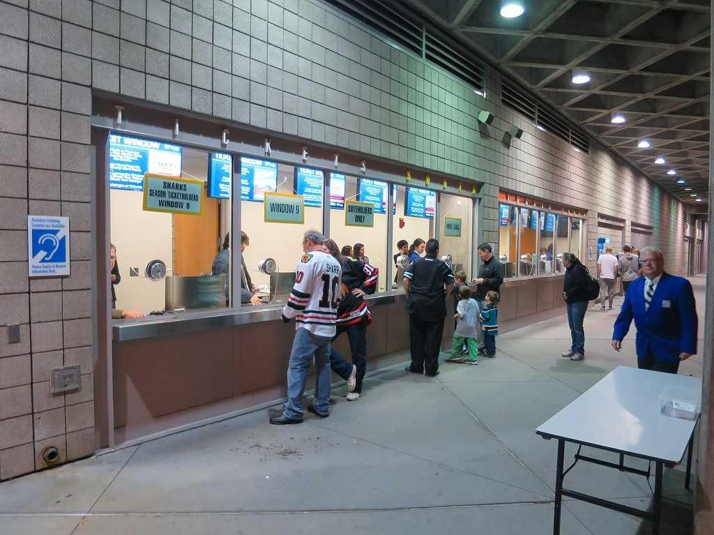 「SAPセンター・アット・サンノゼ」のチケット売り場