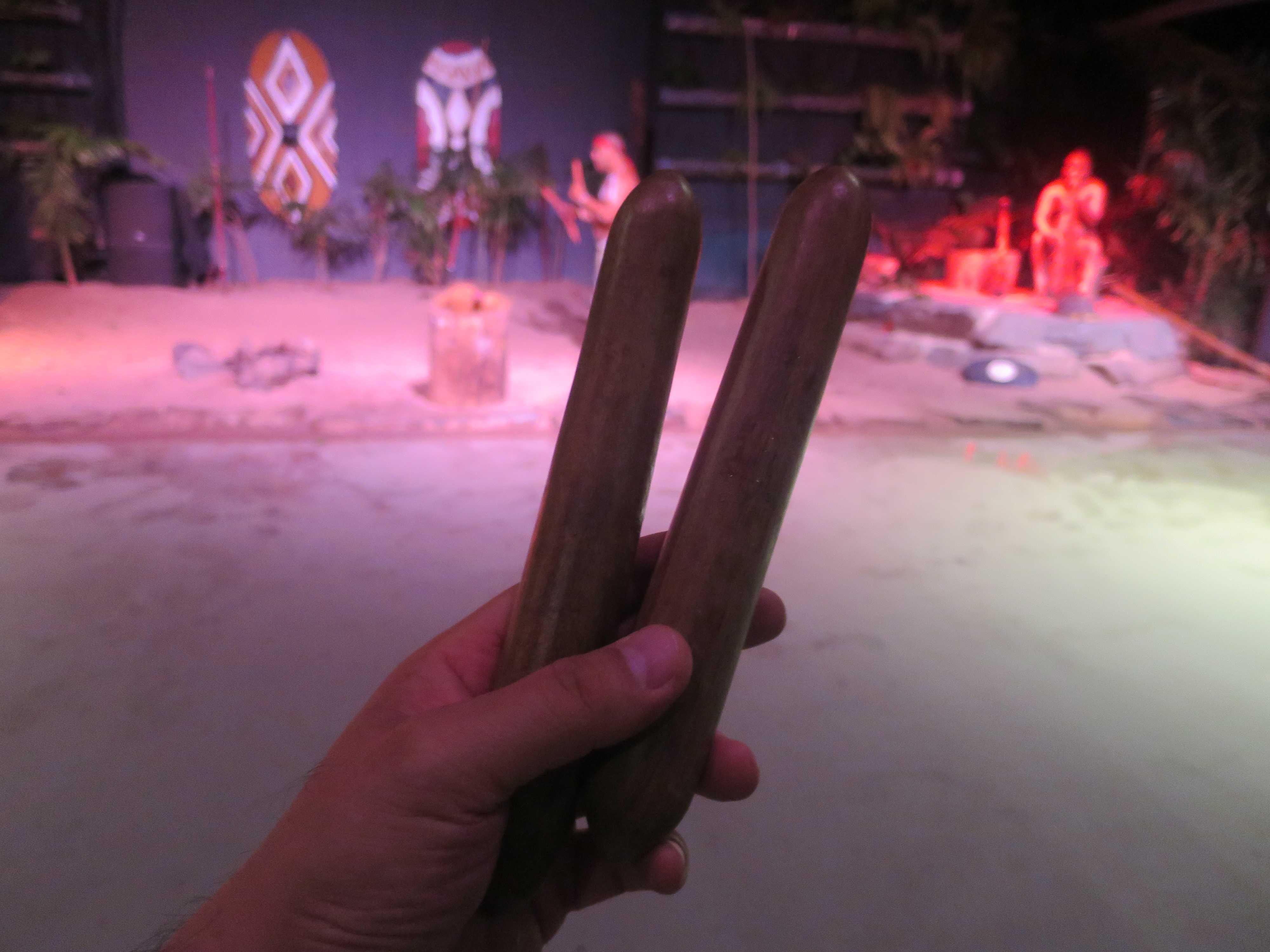 アボリジニの木製スティック「ビブラ」