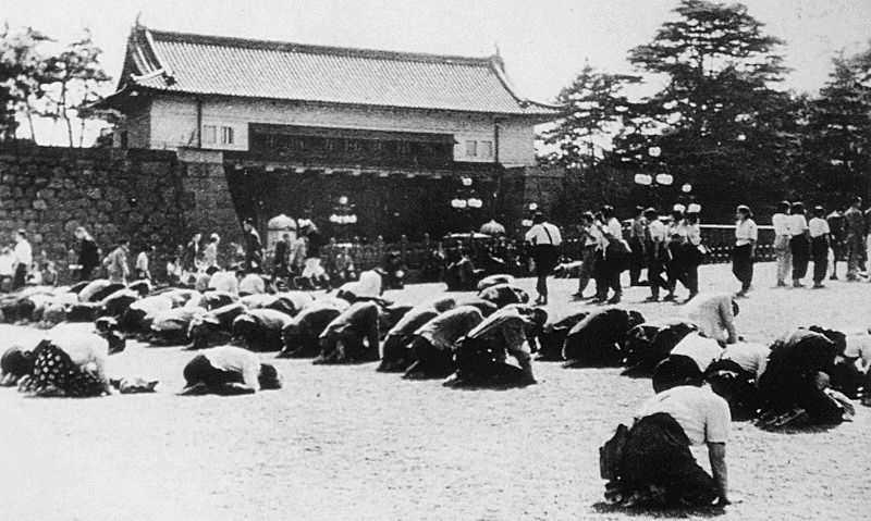 昭和20年8月15日 皇居前広場