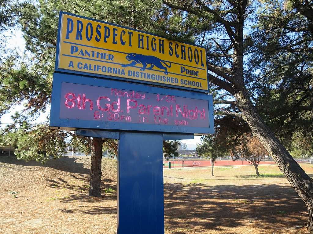 Prospect High School - PANTHER PRIDE A CALIFORNIA DISTINGUISHED SCHOOL