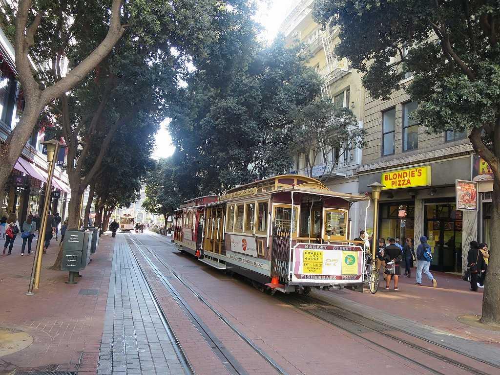 サンフランシスコ市内のケーブルカー
