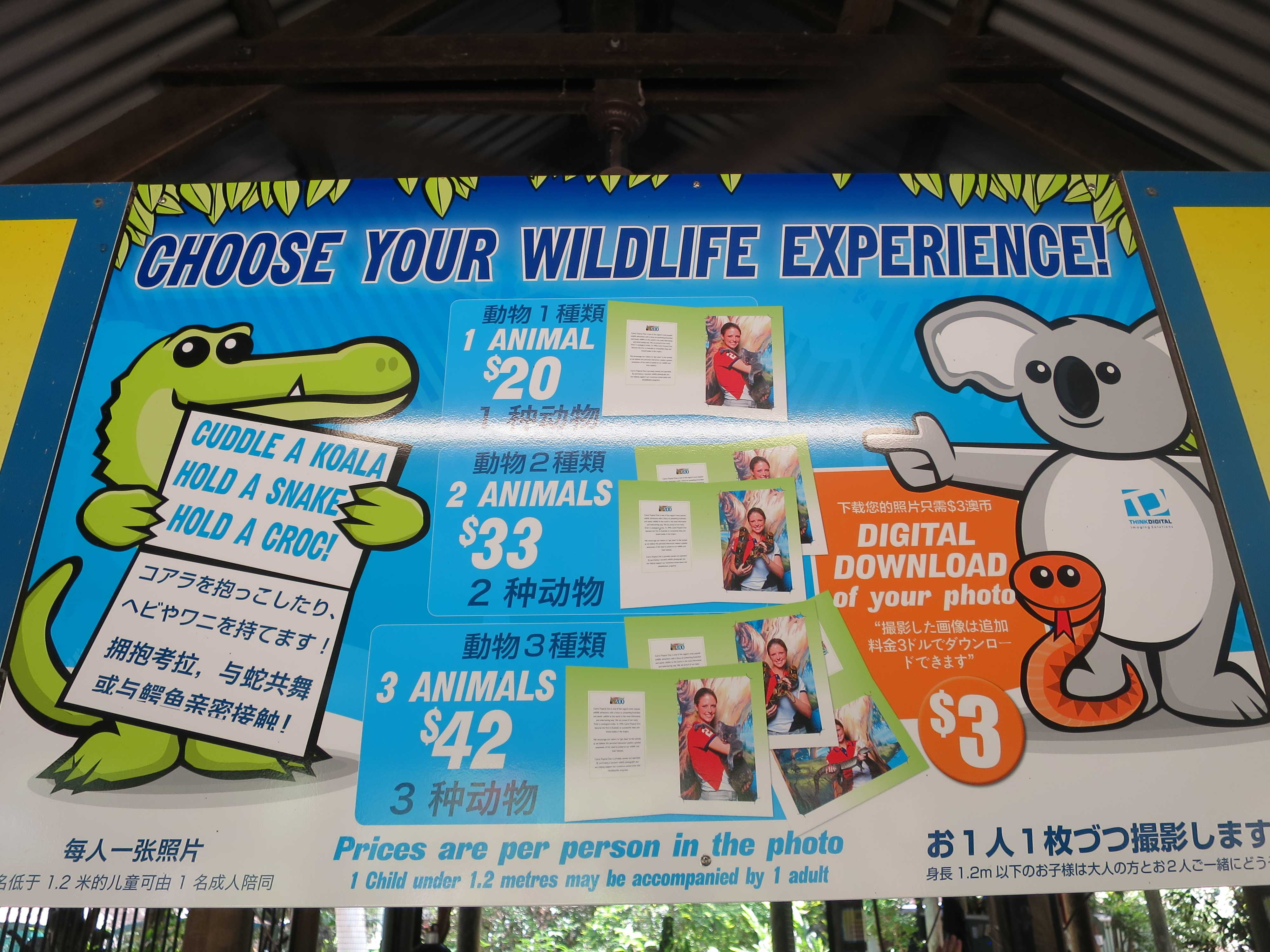 ケアンズトロピカルズー - CHOOSE YOUR WILDLIFE EXPERIENCE!