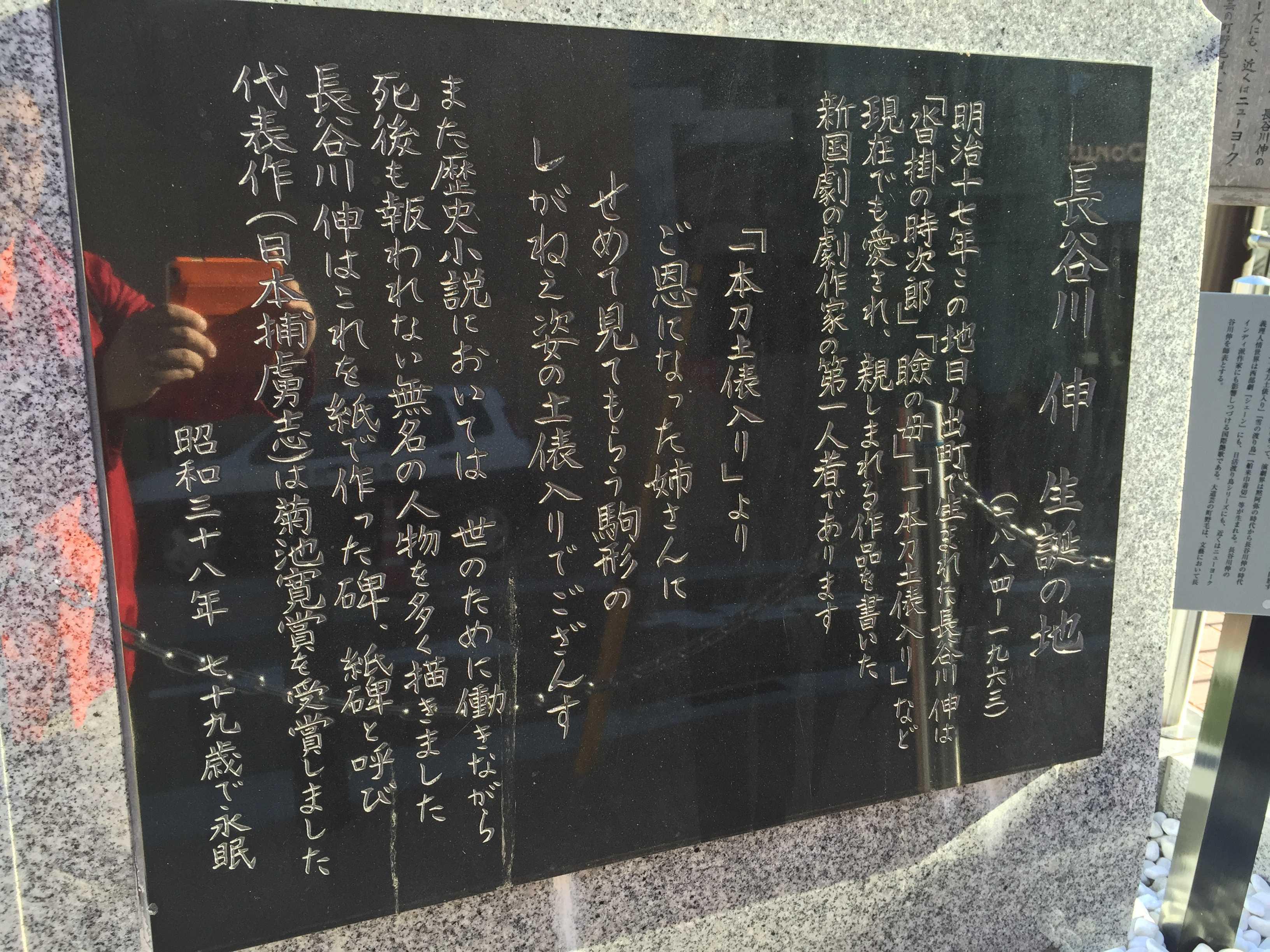 長谷川 伸 生誕の地(1884-1963)