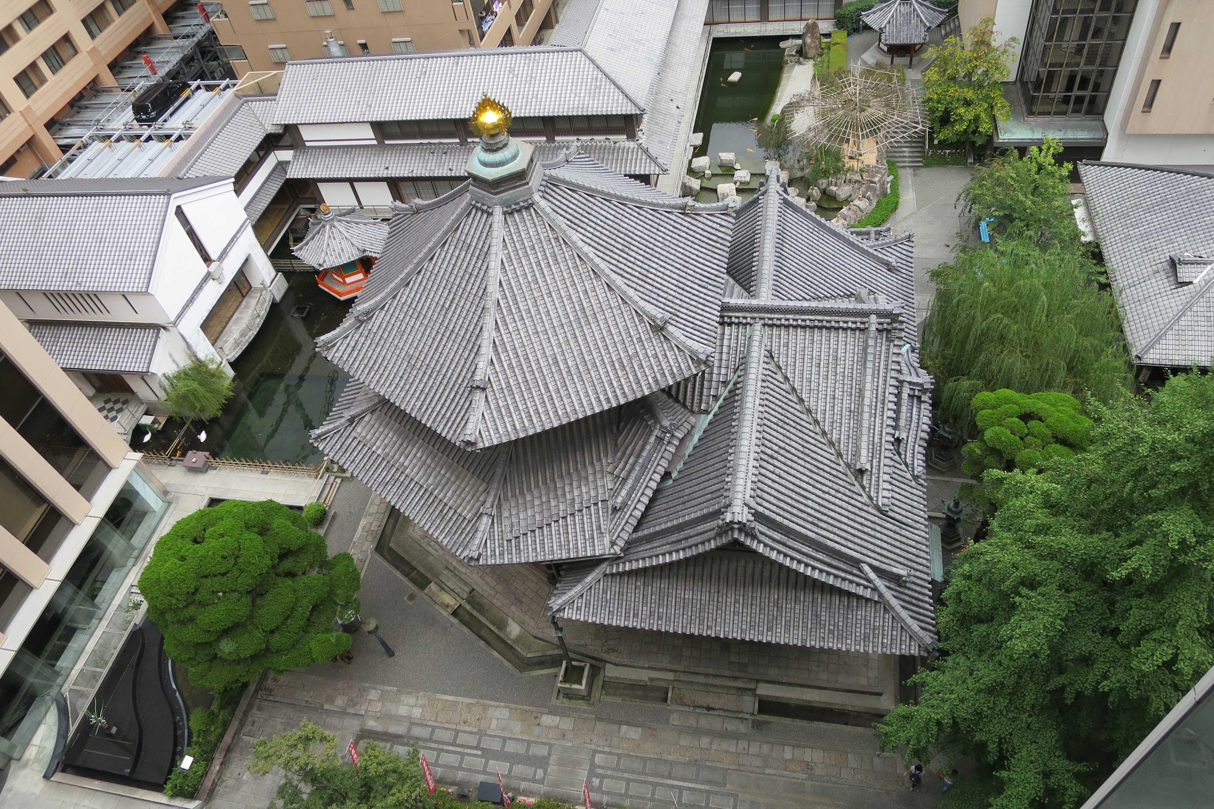 上から見た六角堂(京都・頂法寺)