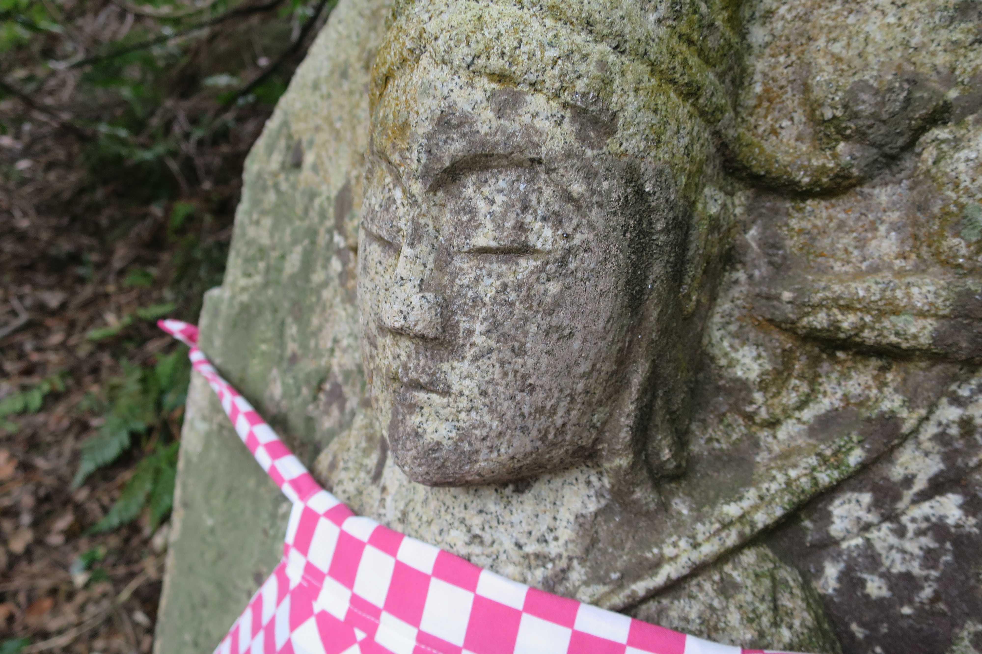 凛々しい表情の石仏 - 奥の院捨身ヶ嶽禅定