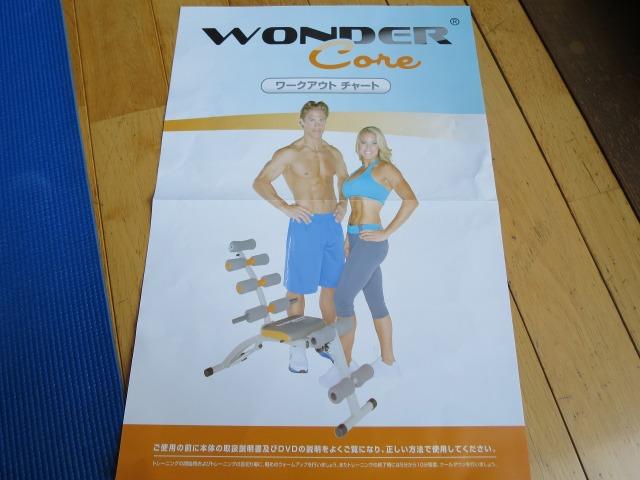 ワンダーコア(WONDER Core) ワークアウトチャート