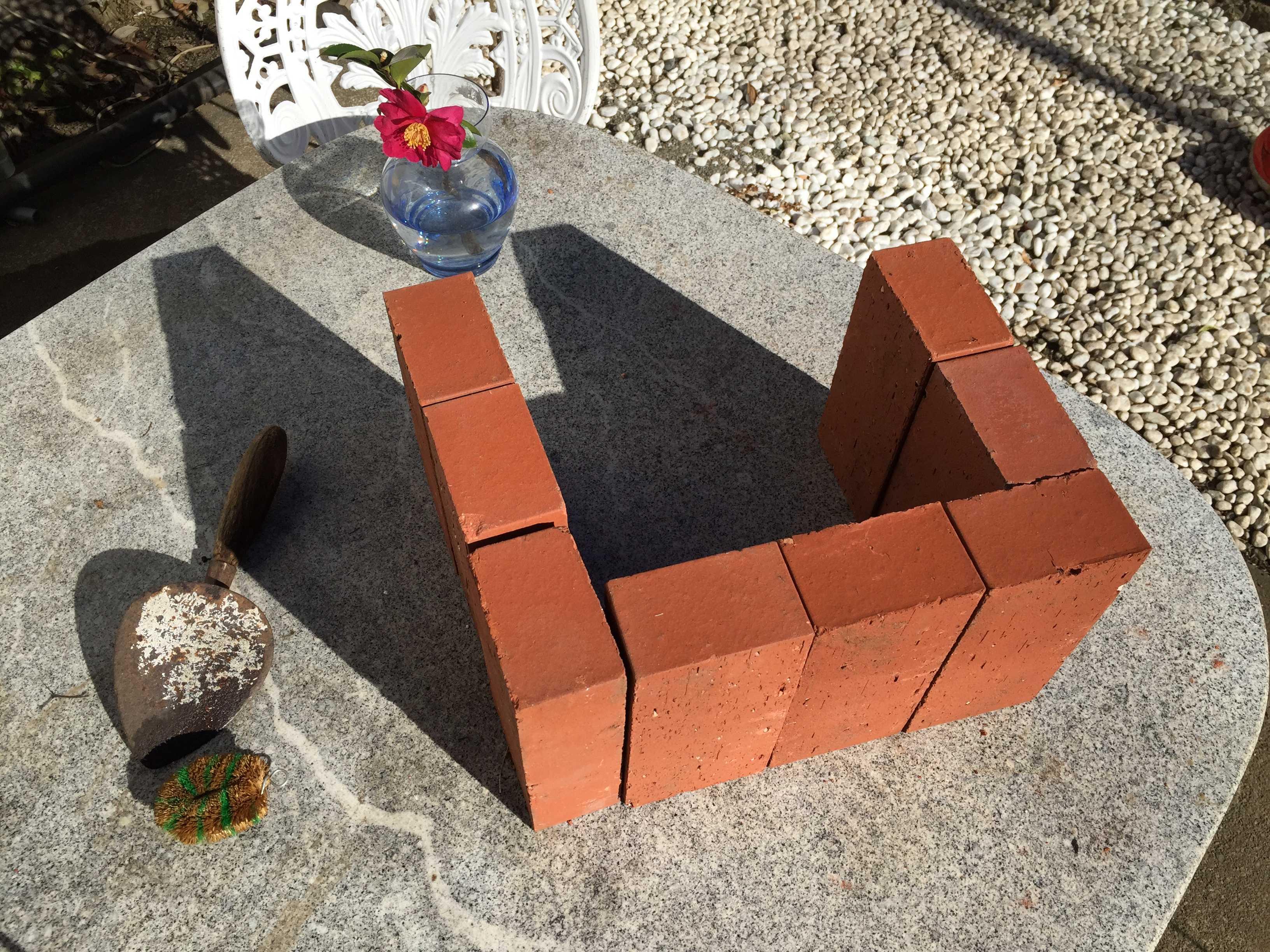 レンガ花壇の作り方