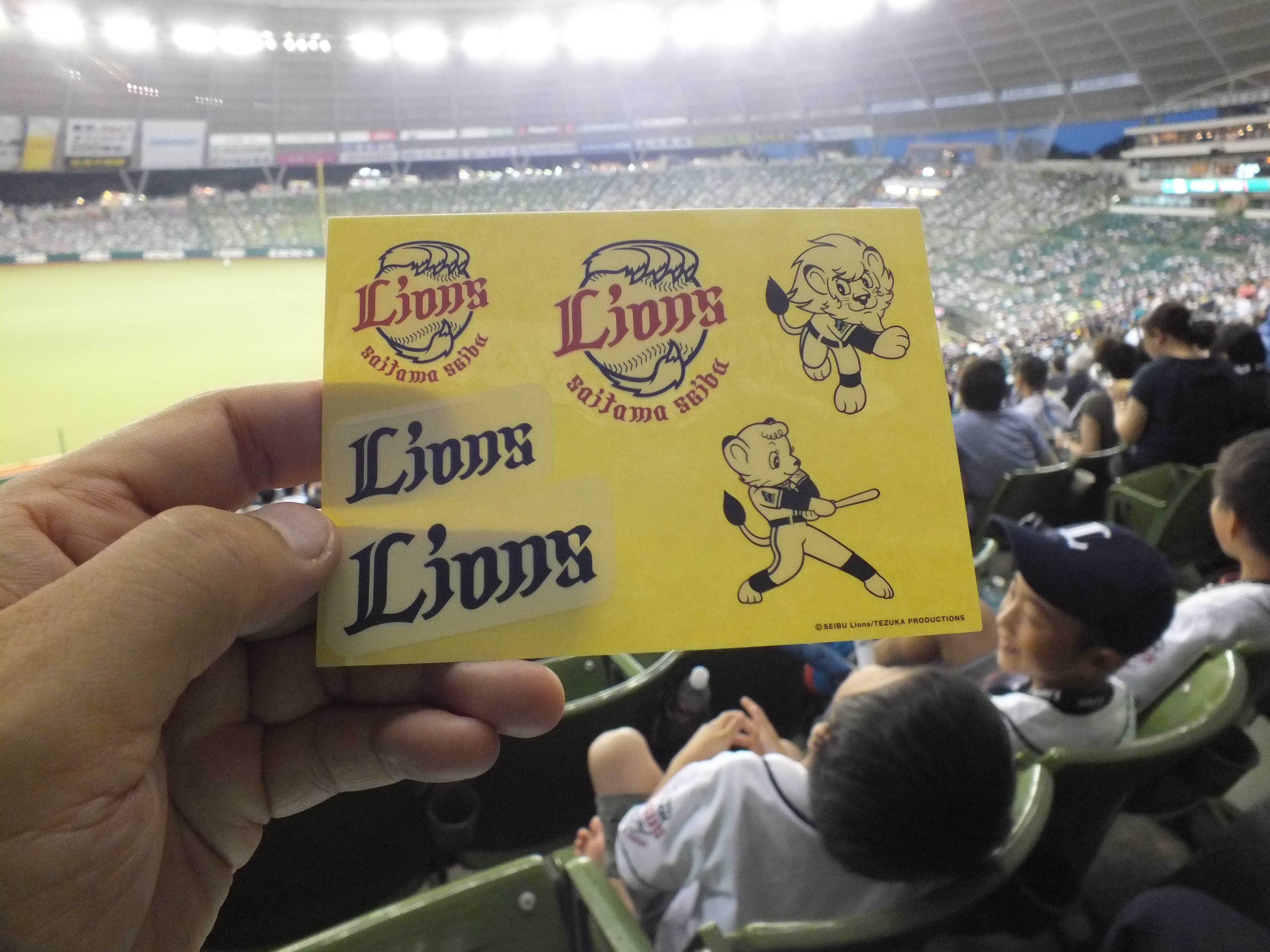 Lions Baseball for the World のシール