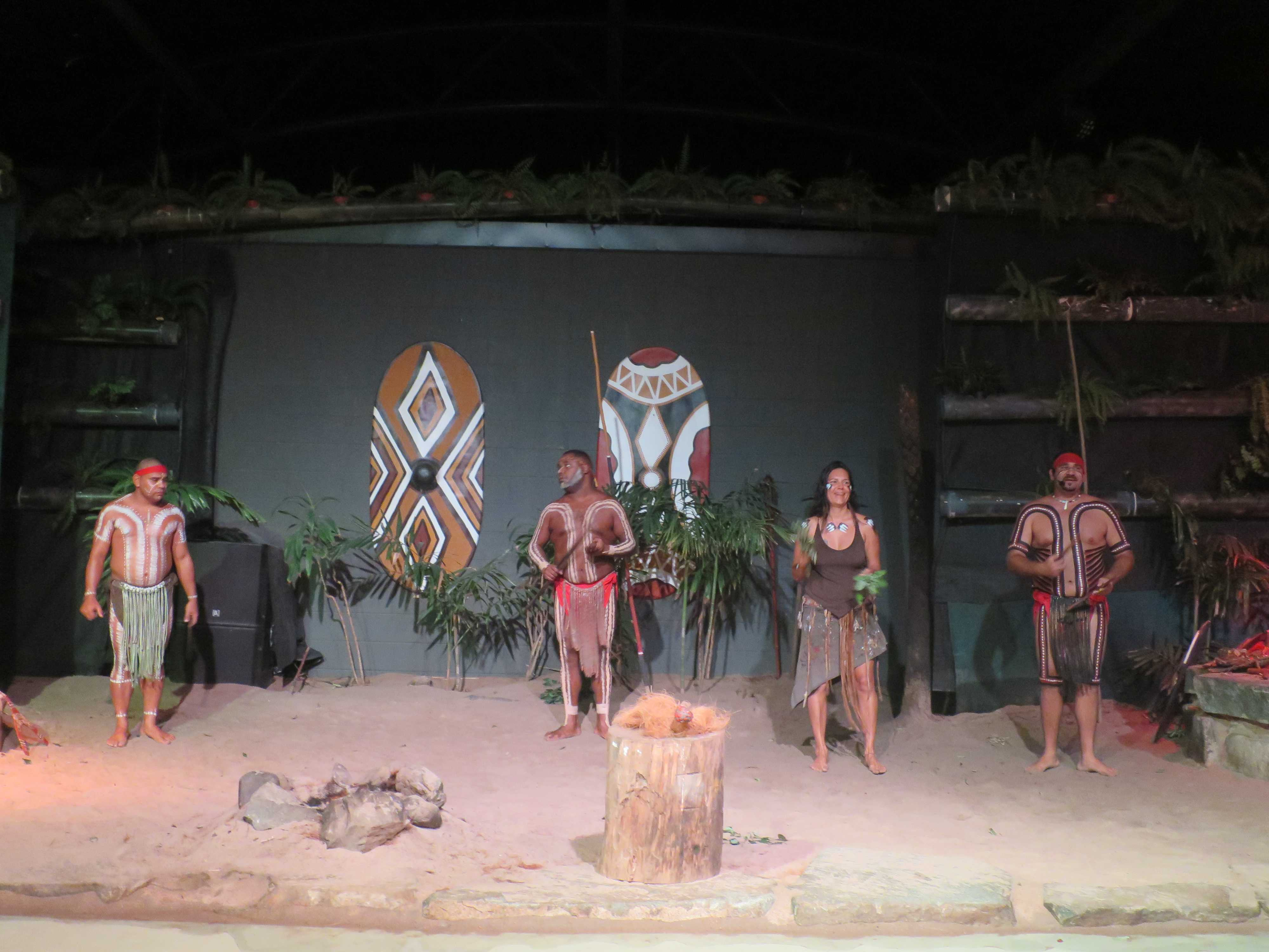 ジャプカイ族によるアボリジニダンスショー