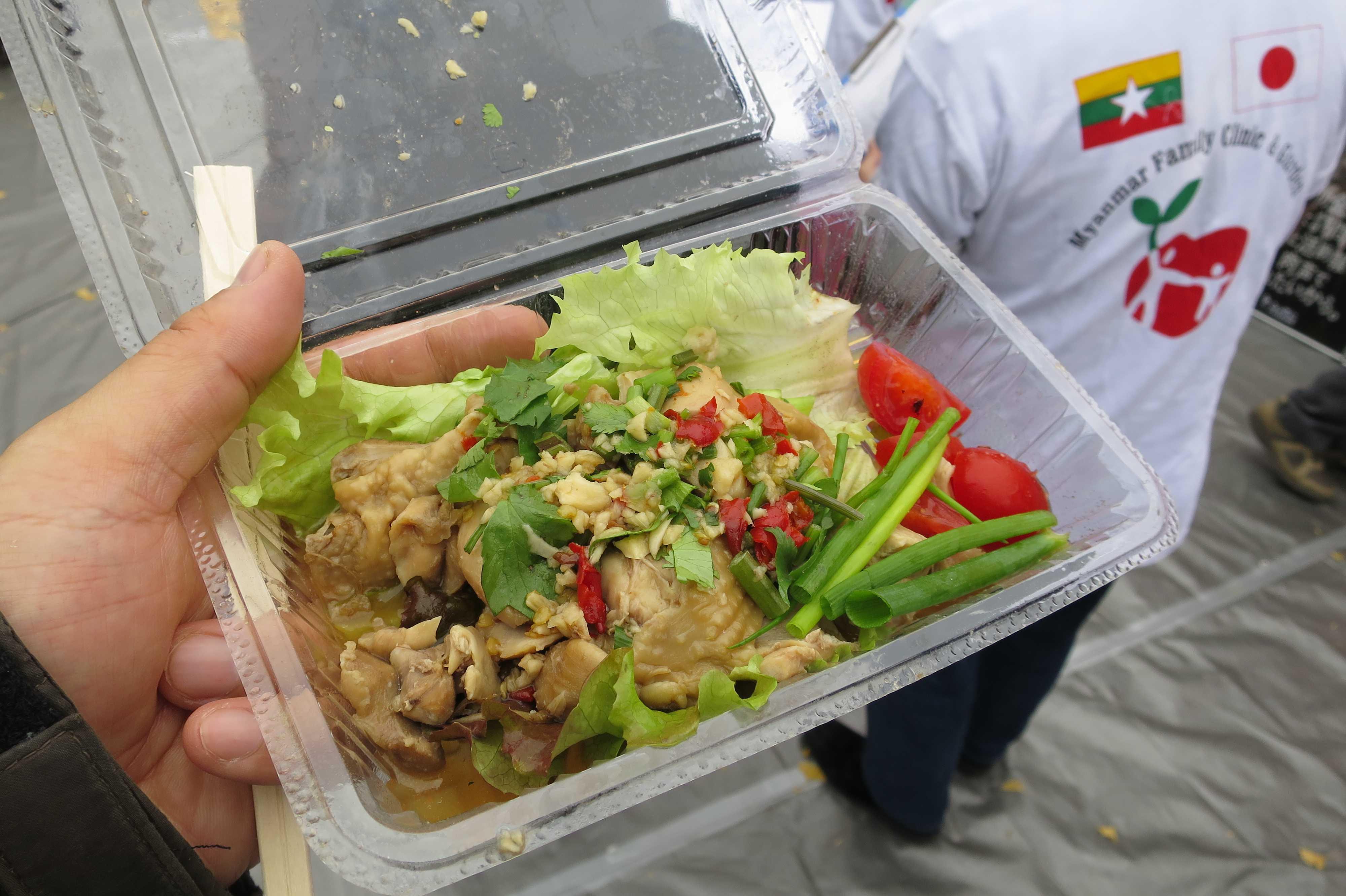 チェターパウン(ミャンマーの蒸し鶏) - ミャンマー祭り2016