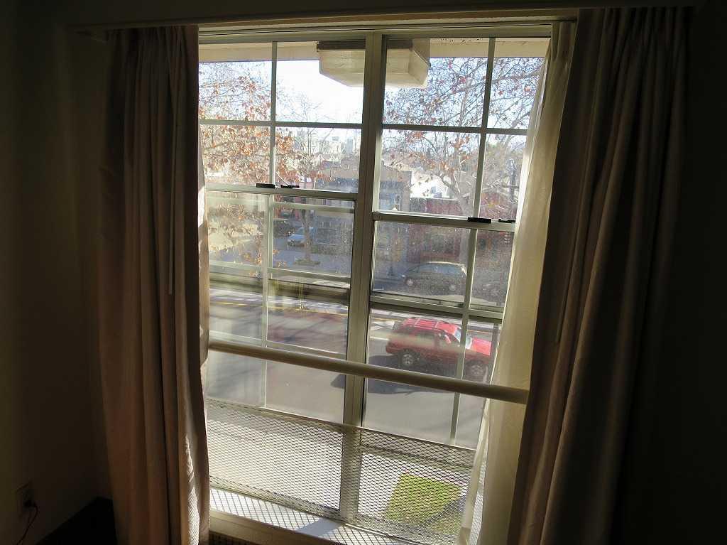 アリーナホテルの部屋からの景色