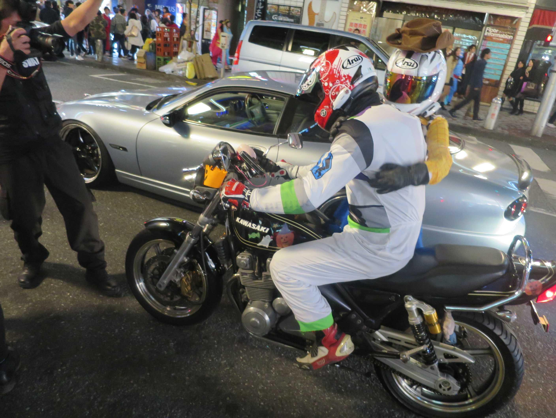 渋谷ハロウィーン - バイク