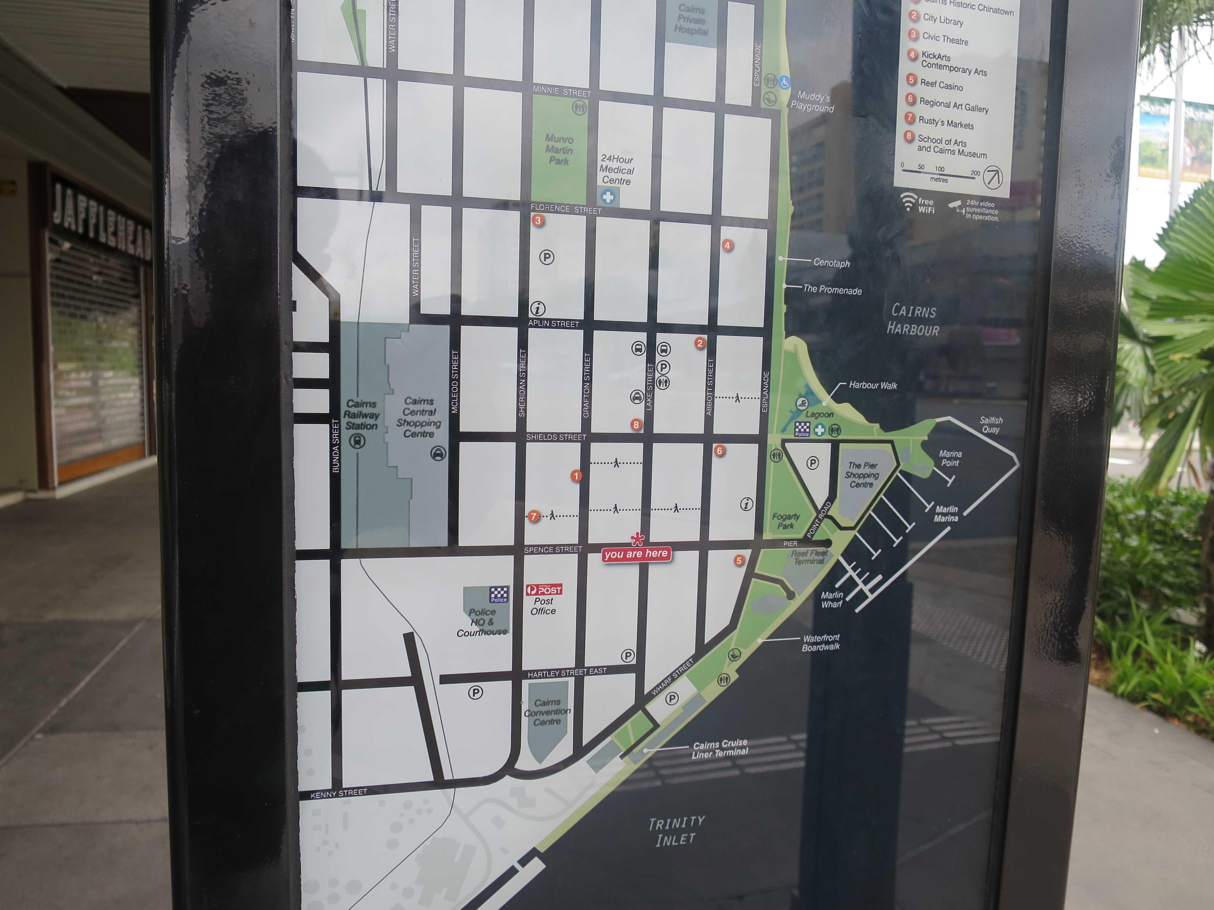 街角のケアンズ地図