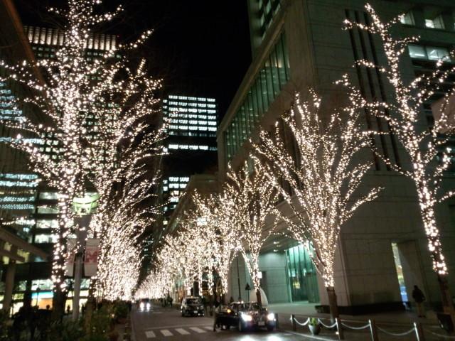 東京駅近くのイルミネーション