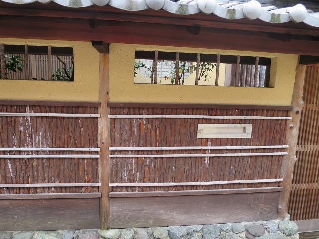 京都の民家の壁