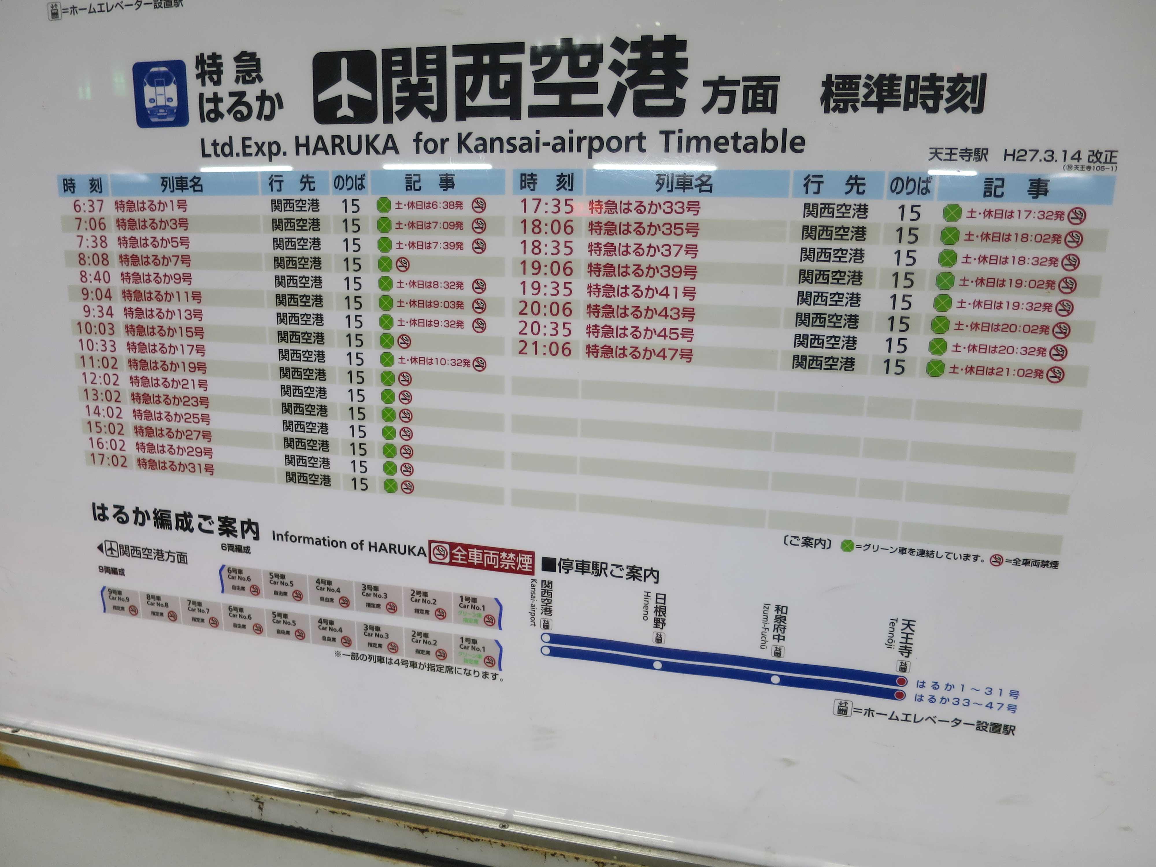 関西空港方面