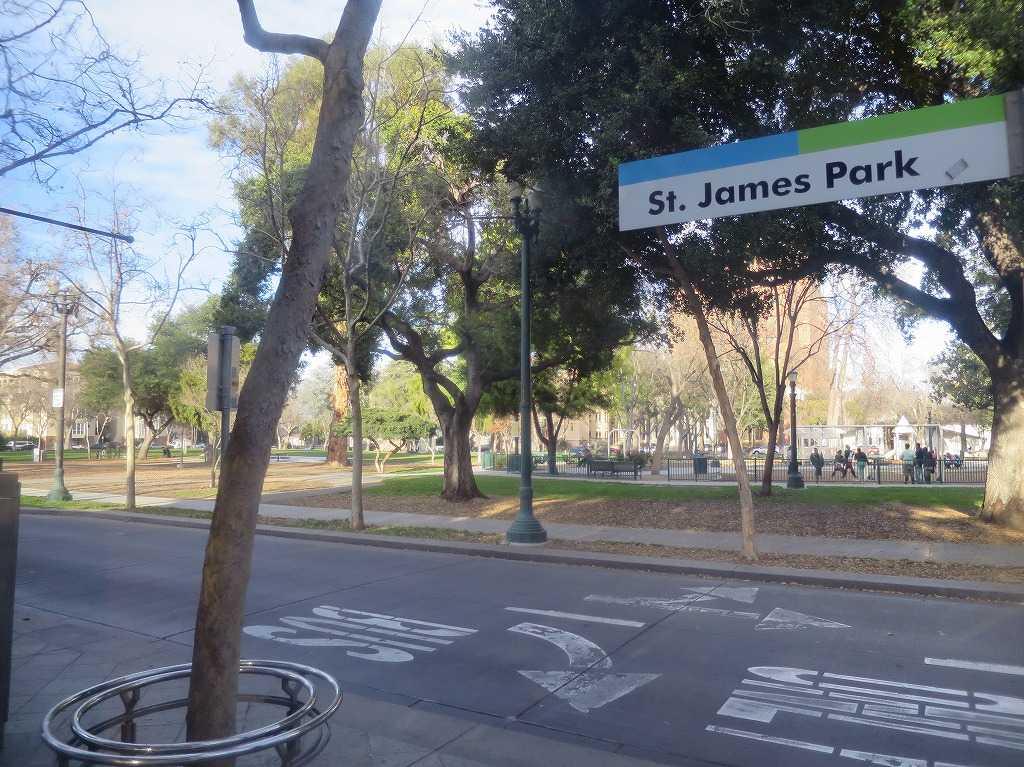 サンノゼ - VTAライトレール St. James Park(セント・ジェームス・パーク)駅
