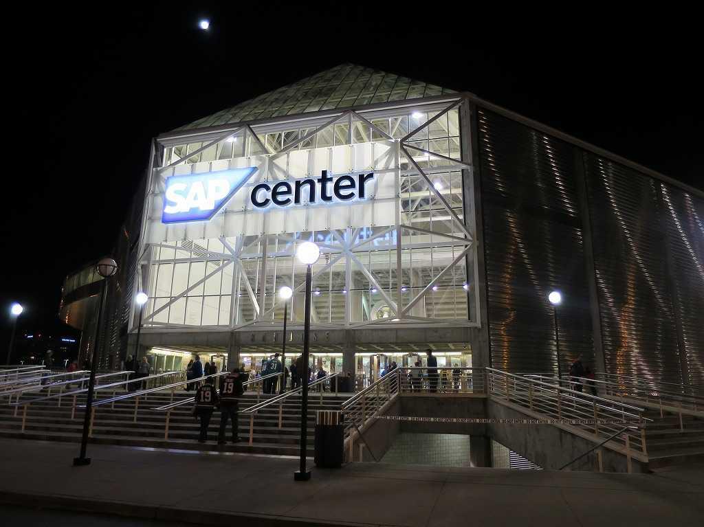 SAPセンター・アット・サンノゼの裏側入口